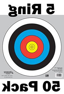 Archery 40cm Targets by Longbow  Part# 40-B5C-50