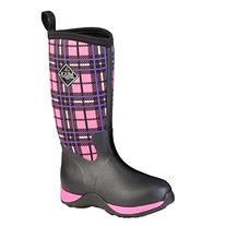 Muck Boot Kids' Arctic Adventure Pullon, Pink Plaid, 7 M US