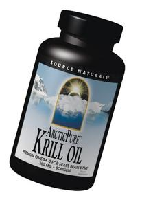 Source Naturals ArcticPure Krill Oil 500mg, Premium Omega-3