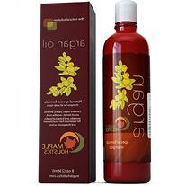 Argan Oil Shampoo and Hair Conditioner Set - Argan, Jojoba,