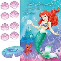 Ariel the Little Mermaid Sparkle Party Game Poster