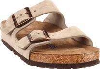 Birkenstock Unisex Arizona Soft Footbed Sandal,Taupe Suede,