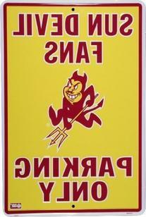 ARIZONA STATE SUN DEVILS Metal Parking Sign 12 x 18 embossed