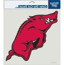 "NCAA Arkansas Razorbacks Die-Cut Color Decal, 8""x8"", Team"
