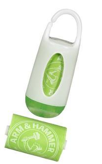 Munchkin Arm & Hammer Diaper Bag Dispenser & Bags - Green/