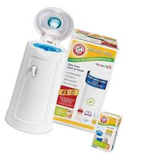 Munchkin Arm and Hammer Diaper Pail with Refill Bags, 10