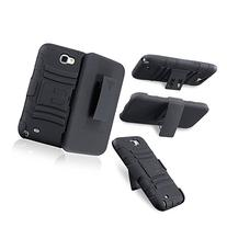 Rugged Impact Armor Hybrid Hard Case Cover & Belt Clip