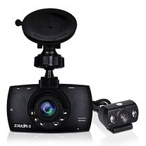 "E-PRANCE® New Arrival GT8 Dual Lens 2.7"" Car DVR Recorder"