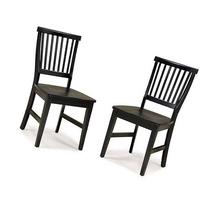 Home Styles Arts & Crafts Side Chair - Set of 2, Ebony