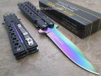 TAC Force Assisted Opening Black Handle Rescue Folder Half