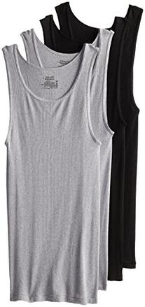 Hanes Comfort Soft Tagless Tanks 4-Pack, Black, Grey, or