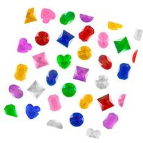 "1"" Assorted Colorful Adhesive Stick-On Heart Star Round"