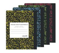 Assorted Color Marble Composition Book - W/r 100 Ct