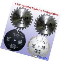 "Pack of 4 Assorted Metal/wood 4-1/2"" 4.5 inch Circular Saw"