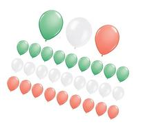 Assorted Mint Green, Coral and White Latex Balloons