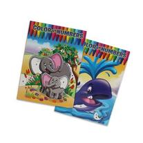 2 Pack Assorted Color By Numbers Series II Coloring Books