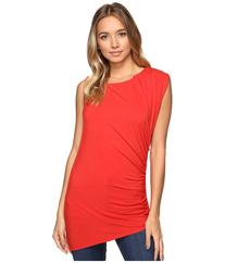 HEATHER - Asymmetric Shirred Top  Women's Clothing