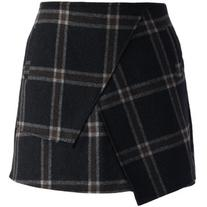 Chicwish Asymmetric Tartan Wool-blend Bud Skirt