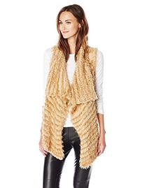 kensie Asymmetrical Faux-Fur Vest