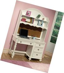 Athena collection white finish wood children's desk and