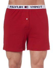 Tommy Hilfiger Men's Athletic Knit Boxer, Mahogany, Large