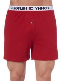 Tommy Hilfiger Men's Athletic Knit Boxer, Mahogany, Large