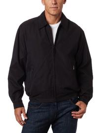 London Fog Men's Auburn Zip-Front Golf Jacket , Black, 2X
