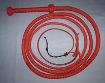 Ausse Redhide BULLWHIP 10ft. 8 Plait Real Cowhide Leather