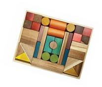QToys Australia Natural Color Blocks 34 Pieces
