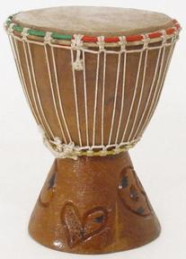 """7"""" Extra Small Authentic Handmade Djembe Drum - Traditional"""