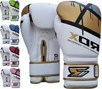 RDX Maya Hide Gel Sparring Leather Boxing Gloves, Golden,