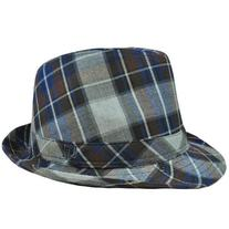 Authentic London Fog Navy Blue Brown Gray Plaid Large XLarge