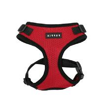Authentic Puppia RiteFit Harness with Adjustable Neck, Red,
