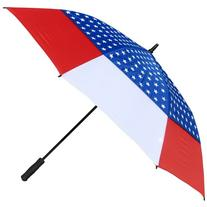 RainStoppers Auto Open Windbuster Umbrella with USA Flag