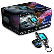 AutoPage C3-RS730LCD 4-Channel 5-Button Chrome LCD Alarm with Remote Car Starter