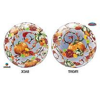 "Autumn Pumpkins Vines Floral 22"" Bubble Balloon"