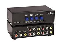 YueYueZou® 4-Way AV Switch RCA Switcher 4 In 1 Out