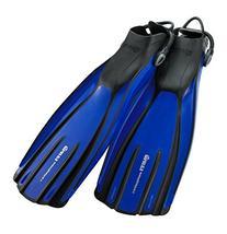 Mares Avanti Quattro Plus Open Heel Bungee Strap Fin, Blue,