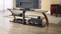 Whalen Furniture AVCEC65-TC Table Top Entertainment Stand,