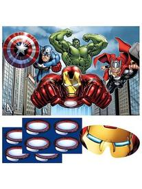 Avengers Party Game, Pin The Arc Reactor to The Iron Man