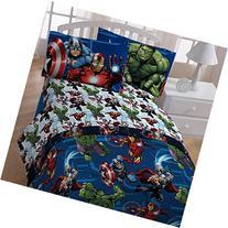 4pc Marvel Avengers Twin Bedding Set Heroic Age Comforter