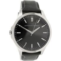 Armani Exchange Men's AX2149 Black Leather Quartz Watch