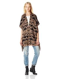 Derek Heart Junior's Aztec Elbow Sleeve Open Front Printed