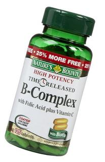 Nature's Bounty Vitamin B Complex with Folic Acid Plus Vit C