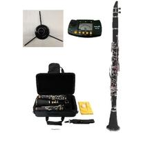New Merano B Flat BLACK / Silver Clarinet with Case+Metro