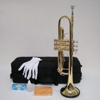 Merano B Flat GOLD / Silver Trumpet with Case+Mouth Piece+