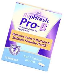 RepHresh Pro-B Probiotic Feminine Supplement Capsules, Pack