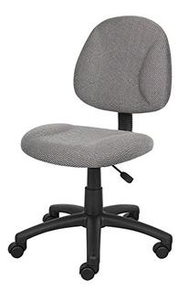 Boss Office Products B315-GY Perfect Posture Delux Fabric
