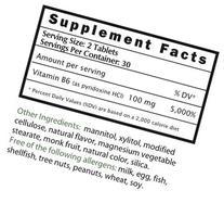 EZ Melts B6 as Pyridoxine, 50 mg, Sublingual Vitamins, Vegan