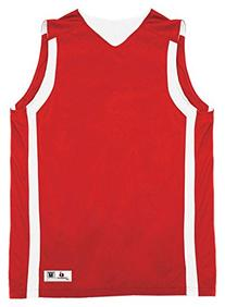 B8551 Badger Adult B-Slam Reversible Basketball Tank - Red/